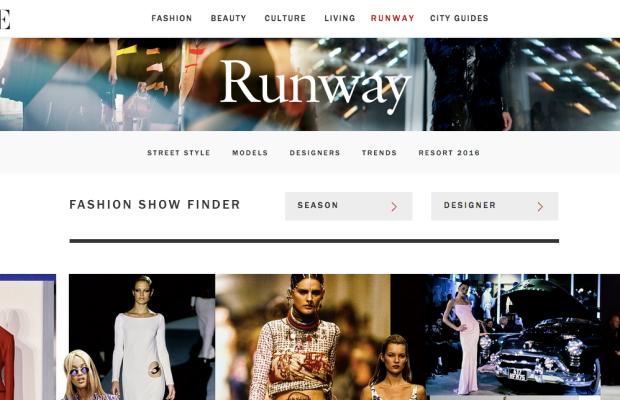 The new Voguerunway.com. Photo: Voguerunway.com