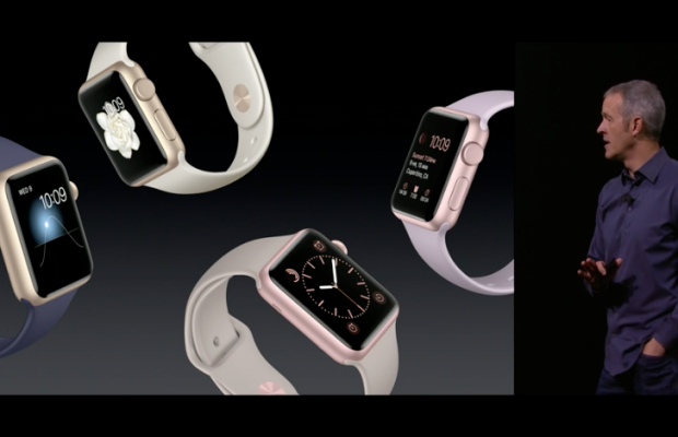 The new Sport Apple Watches. Photo: Apple livestream