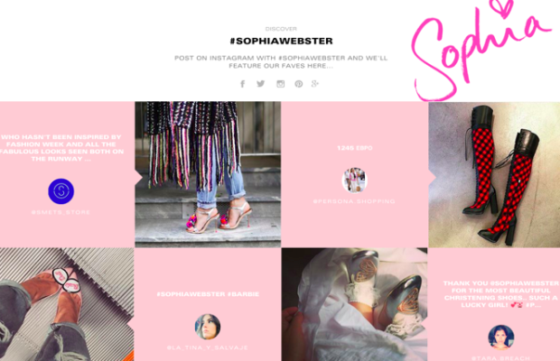 The new Sophia Webster website. Photo: Sophia Webster