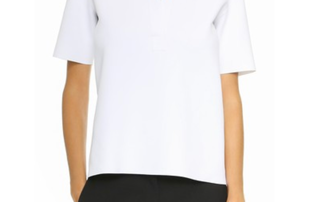 Helmut Lang Sponge Polo Tee, $320, available at Shopbop.