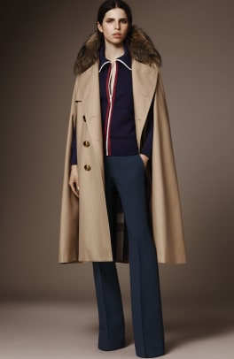 Stellar Coats And Capes Abound In Burberry S Pre Fall