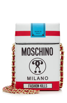 MOSCHINO RUNWAY CAPSULE COLLECTION FW16 via STYLEBOP.com - Cigarette Packet Leather Shoulder Bag.jpg