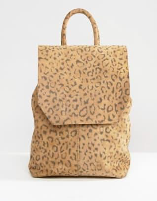 asos-mini-suede-leopard-print-backpack