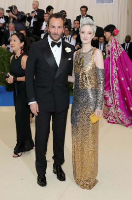 met gala 2017 Tom Ford and Andrea Riseborough