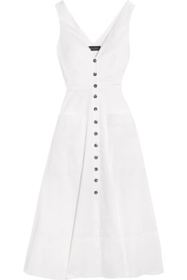 saloni-zoe-cutout-cotton-blend-dress