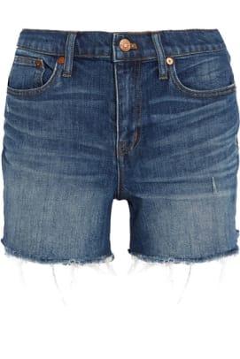 madewell-distressed-denim-shorts