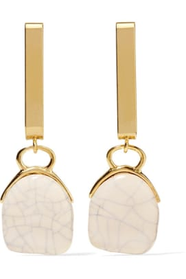 isabel-marant-gold-tone-ceramic-earrings