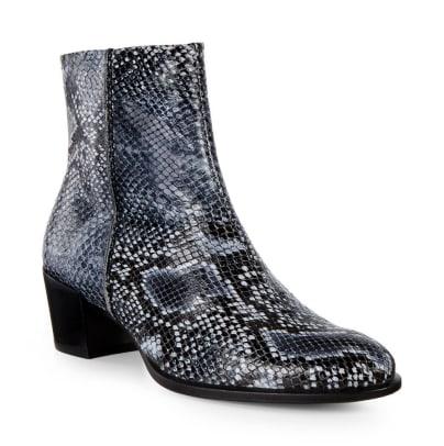 ecco shape snakeskin boot