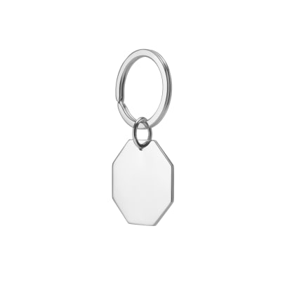 Sterling Silver - STOP Key Ring - Side - 3.18