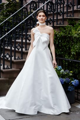 lela-rose-bow-strapless-wedding-dress
