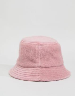 asos-design-fluffy-bucket-hat