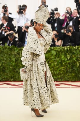 rihanna as the pope met gala 2018
