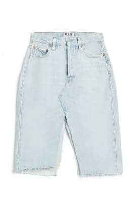 agolde slit denim skirt