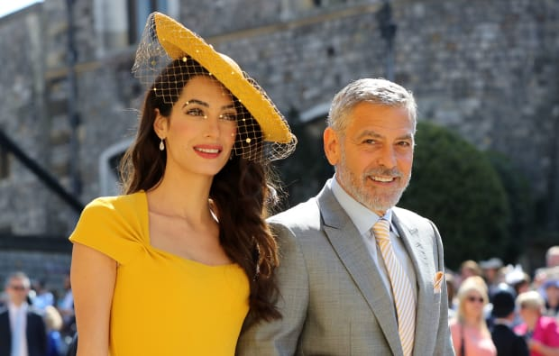 royal wedding guests best fascinators amal clooney