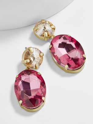 baublebar cassielle drop earrings pink
