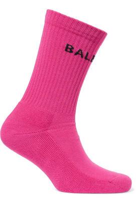 balenciaga-intarsia-cotton-blend-jersey-socks