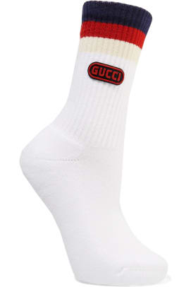 gucci-appliqued-striped-ribbed-cotton-blend-socks