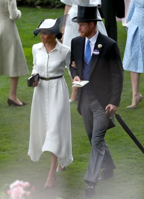 meghan markle white givenchy dress philip treacy hat