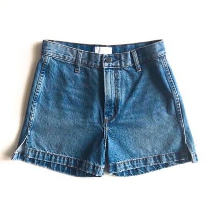 boyish denim shorts-