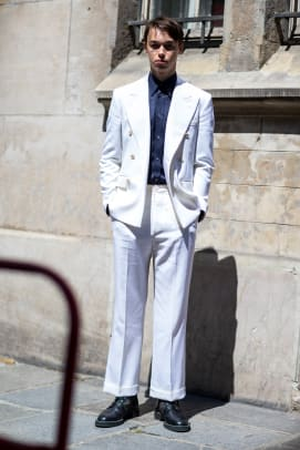 47c5dda64fb Suits With Sneakers Was the Outfit of Choice at Paris Fashion Week ...