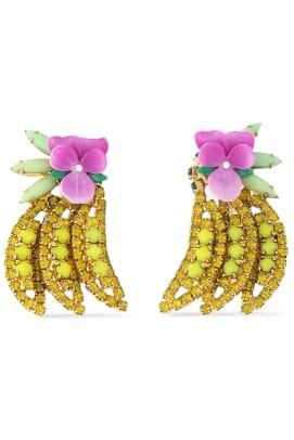 elizabeth cole banana earrings