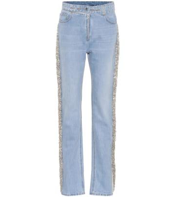 helmet-lang-embelllished-jeans
