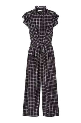 rebecca taylor plaid silk jumpsuit