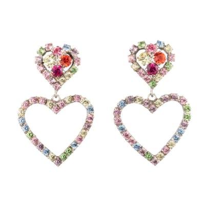 DANNIjo crystal heart lola earring