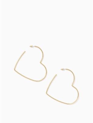 kate spade scrunched scallops heart earrings