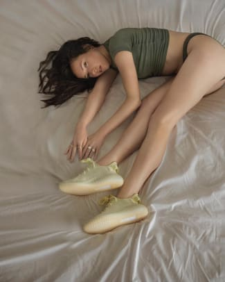 07f77bcbd21 The New Yeezy Campaign Involves Wearing Sneakers on the Bed and I ...