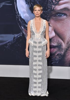 michelle williams silver dress