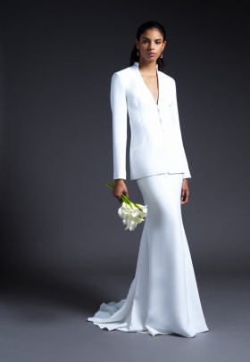 cushnie-bridal-fall-2019-wedding-dress-separates-blazer-skirt