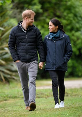 meghan markle seasalt jacket stella mccartney adidas sneakers