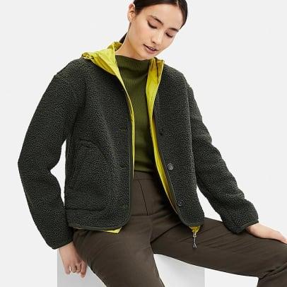 women-fleece-collarless-jacket-olive