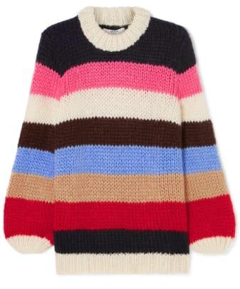 ganni striped sweater