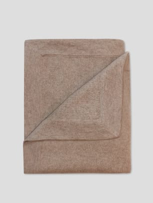 White + Warren Reclaimed Cashmere Blanket - Oatmeal - $600