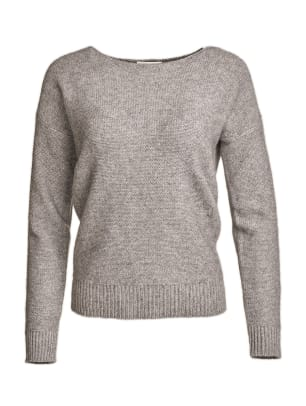 White + Warren Reclaimed Cashmere Crewneck - Heather Grey - $385