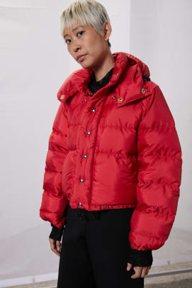 rachel comey red puffer jacket