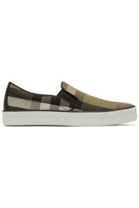 burberry-brown-check-gauden-slip-on-sneakers