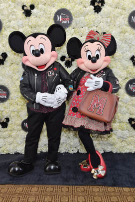 Minnie Mouse & Mickey Mouse in custom Coach_credit Stefanie Keenan