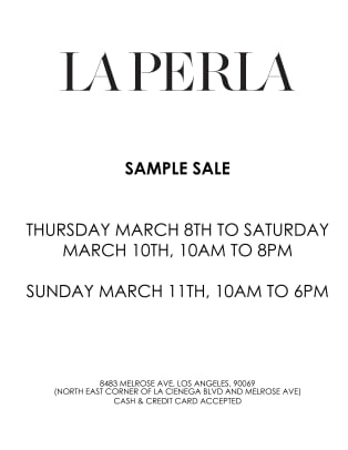 Sample Sale  LA General
