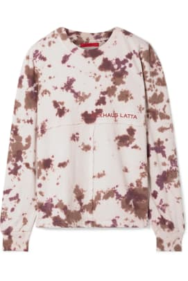 eckhaus-latta-printed-tie-dyed-cotton-jersey-top