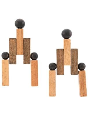 cult gaia wooden earrings