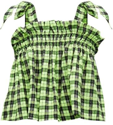ganni neon crop top matches fashion