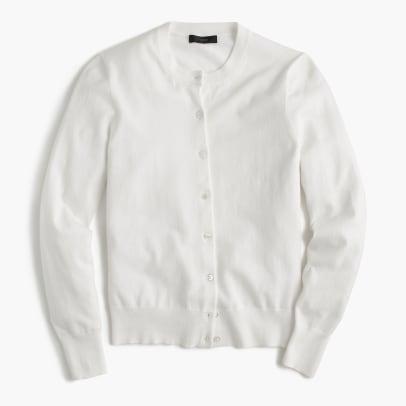 jcrew cotton jackie cardigan