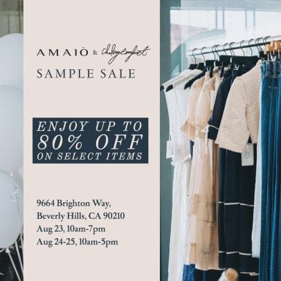 Amaio & Chelsea Comfort Sample Sale