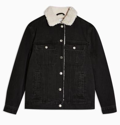 topshop-black-denim-borg-lined-jacket