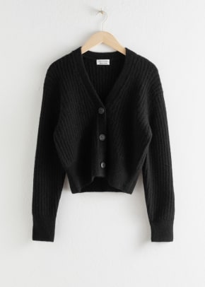 other stories cardigan black