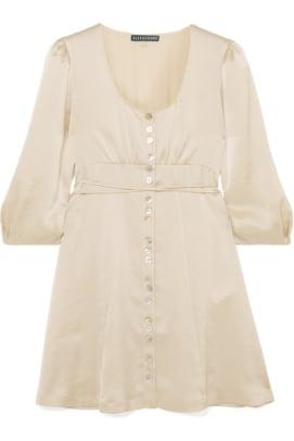 Alexa Chung Satin Mini Dress
