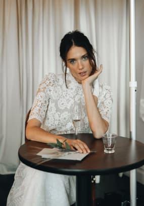 laure-de-sagazon-bridal-fall-2020-lace-top-skirt-wedding-look